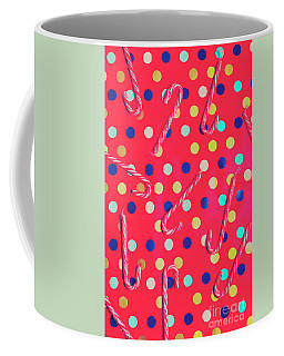 Colorful Pepermint Candy Canes Coffee Mug