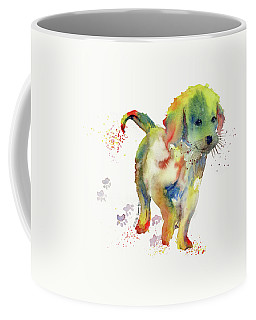 Colorful Puppy Watercolor - Little Friend Coffee Mug by Melly Terpening