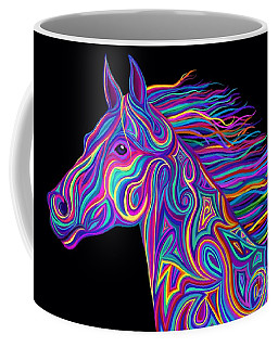 Colorful Rainbow Stallion  Coffee Mug by Nick Gustafson