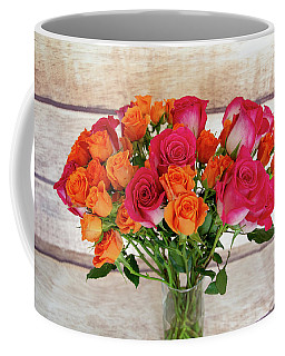 Colorful Rose Bouquet Coffee Mug