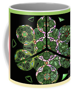 Colorful Rosette In Pink-green Coffee Mug