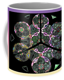 Colorful Rosette In Pink-lila Coffee Mug