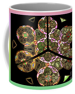 Colorful Rosette In Pink-turquoise Coffee Mug