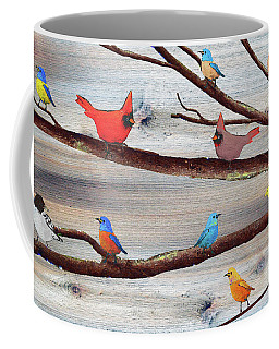 Colorful Rustic Songbirds  Coffee Mug