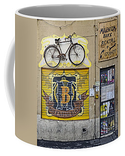 Colorful Signage In Palma Majorca Spain Coffee Mug by Richard Rosenshein