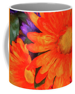 Coffee Mug featuring the photograph Colorful Silk Flowers by SR Green