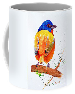 Coffee Mug featuring the painting Colorful Sparrow by Jasna Dragun