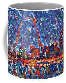 Colorful St Louis Skyline Coffee Mug