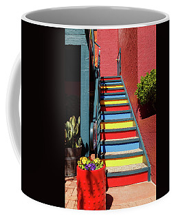 Coffee Mug featuring the photograph Colorful Stairs by James Eddy
