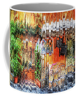 Colorful Street Cafe Coffee Mug