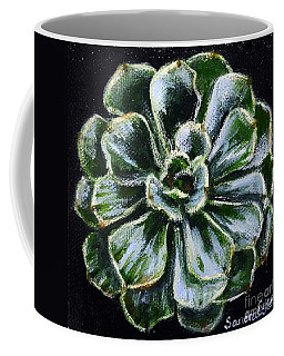 Coffee Mug featuring the painting Colorful Succulent by Sandra Estes