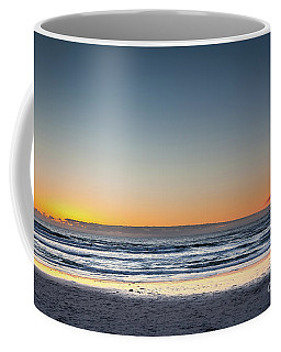 Colorful Sunset Over A Desserted Beach Coffee Mug