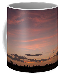 Colorful Sunset Over The Wetlands Coffee Mug