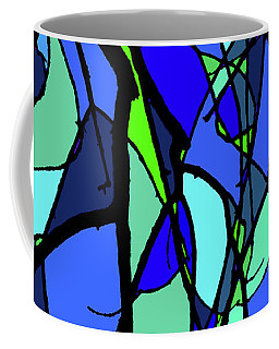 Colorful Tree Abstract Blue Coffee Mug