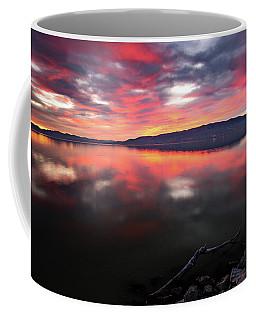 Colorful Utah Lake Sunset Coffee Mug