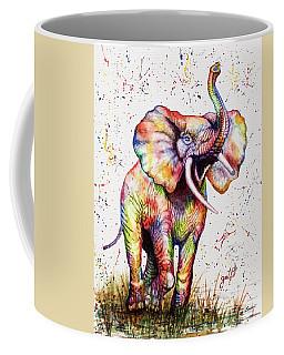 Colorful Watercolor Elephant Coffee Mug
