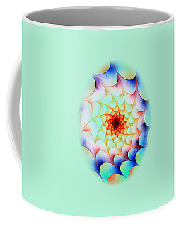 Colorful Web Coffee Mug by Anastasiya Malakhova