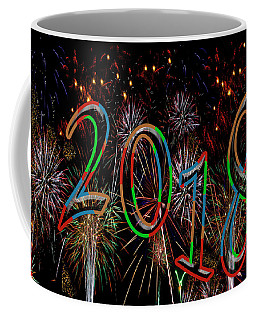 Colorful Year 2018 Fireworks Happy New Year Coffee Mug