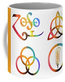Colorful Zoso Symbols Coffee Mug