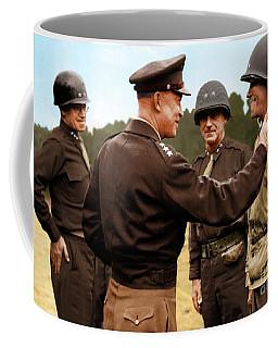 colorization WW2 Eisenhower Coffee Mug by John Wills