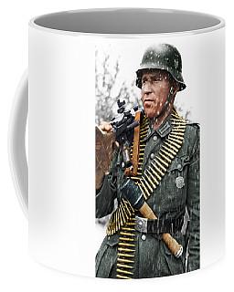 Colorized Ww2 German Mg'er Coffee Mug