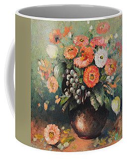Coloroful Zinnias Bouqet Coffee Mug