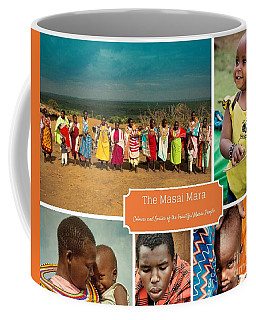 Colors And Smiles Of The Masai Coffee Mug by Karen Lewis