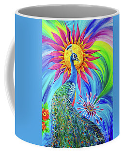 Coffee Mug featuring the painting Colors Of His Splendor by Nancy Cupp