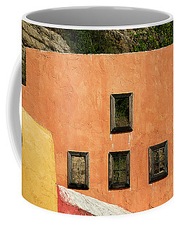 Coffee Mug featuring the photograph Colors Of Liguria Houses - Facciatecolors Of Liguria Houses - Facciate Case Colori Di Liguria 1 by Enrico Pelos