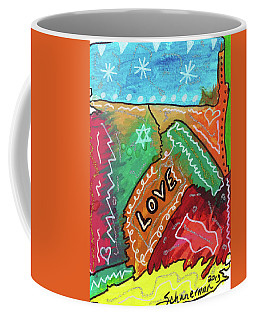 Colors Of Love Coffee Mug by Susan Schanerman