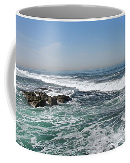 Coffee Mug featuring the photograph Colors Of The Sea by Carol  Bradley
