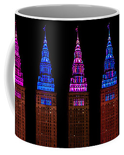 Colors Of The Terminal Tower Coffee Mug