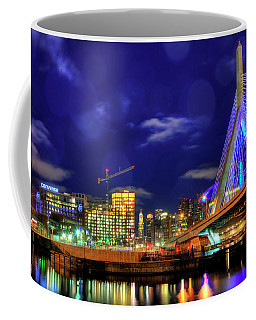Coffee Mug featuring the photograph Colors Of The Zakim Bridge - Boston, Ma by Joann Vitali