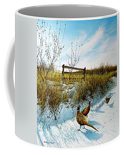 Colors Of Winter - Pheasants Coffee Mug