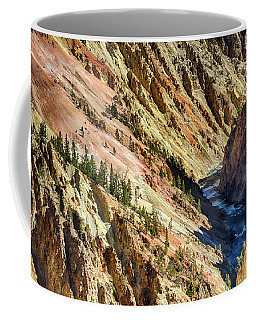 Colors Of Yellowstone Canyon Coffee Mug by Shirley Mitchell