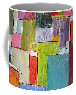 Coffee Mug featuring the painting Colour Block7 by Chris Hobel