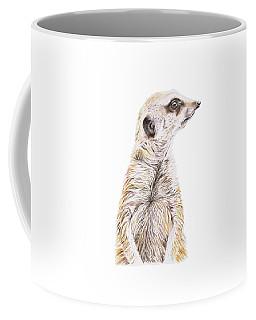 Colour Meerkat Coffee Mug