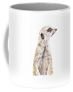 Colour Meerkat Coffee Mug