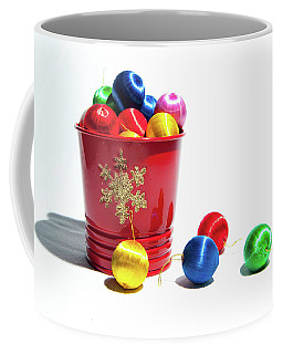 Coloured Baubles In A Pot Coffee Mug