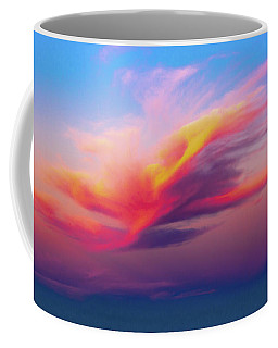 Coloured Feather Clouds Coffee Mug
