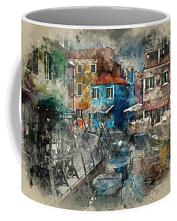Colourful Burano Coffee Mug by Jack Torcello
