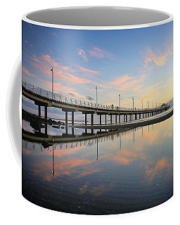 Colourful Cloud Reflections At The Pier Coffee Mug