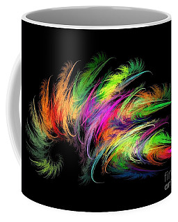 Colourful Feather Coffee Mug by Klara Acel
