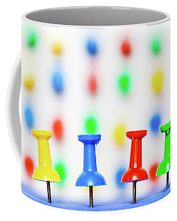 Colourful Pins. Coffee Mug