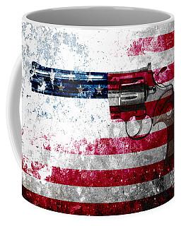 Colt Python 357 Mag On American Flag Coffee Mug