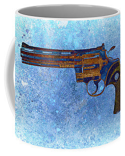 Colt Python 357 Mag On Blue Background. Coffee Mug