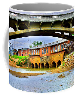 Coffee Mug featuring the photograph Columbia Canal At Gervais Street Bridge by Lisa Wooten