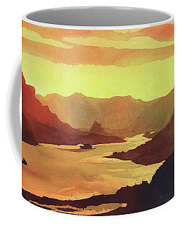 Coffee Mug featuring the painting Columbia Gorge Scenery by Ryan Fox