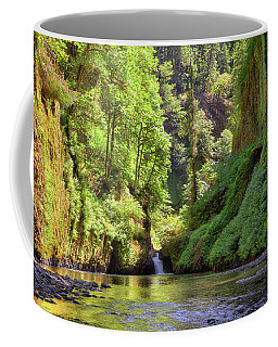 Columbia Gorge Waterfall In Summer Coffee Mug
