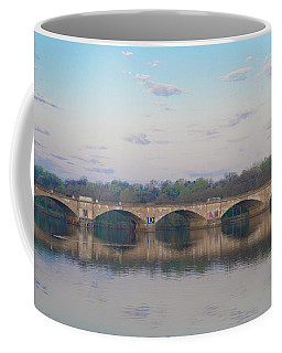 Coffee Mug featuring the photograph Columbia Railroad Bridge - Philadelphia by Bill Cannon